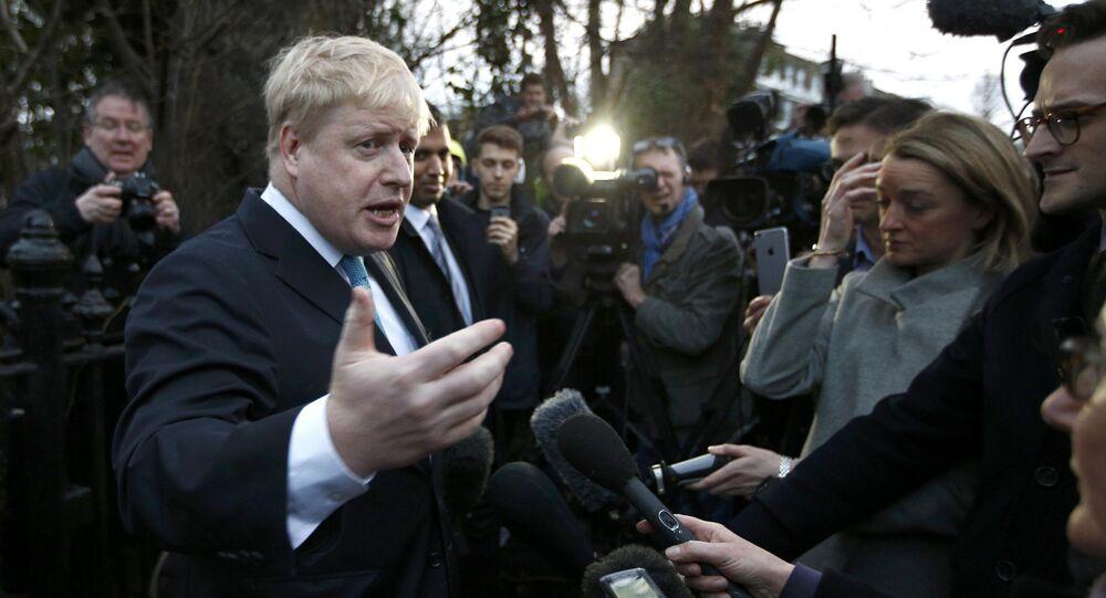 Boris Johnson, ex alcalde de Londres