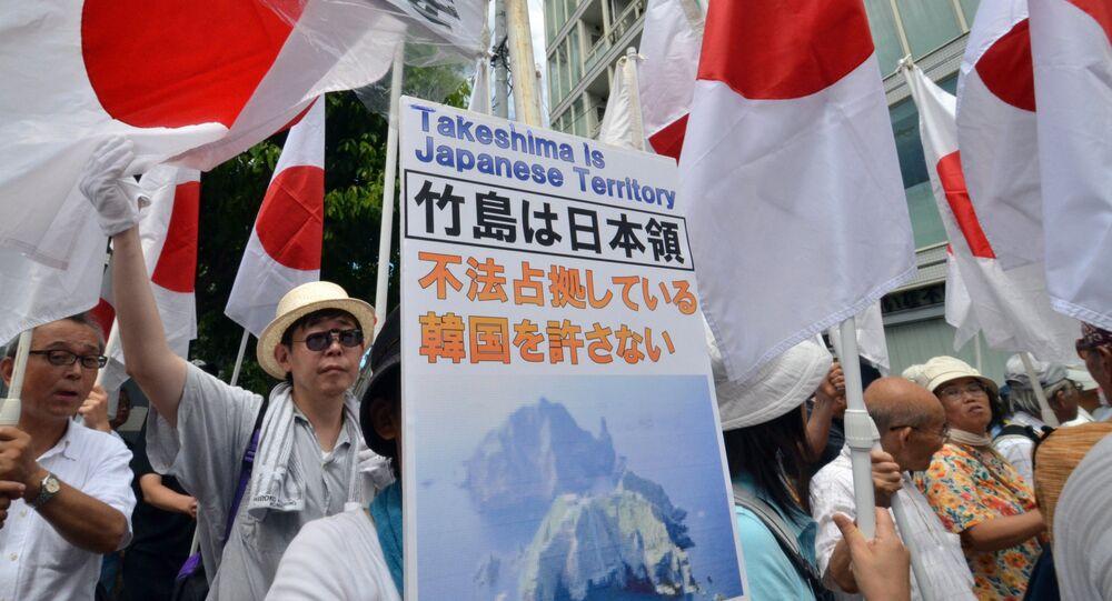 Los nacionalistas demandan el retorno de las rocas de Takeshima a Japón (archivo)