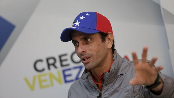 Henrique Capriles, líder opositor de Venezuela - Sputnik Mundo