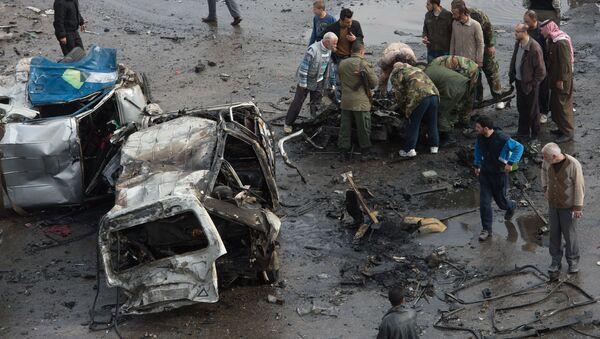 Atentado en Homs, Siria - Sputnik Mundo