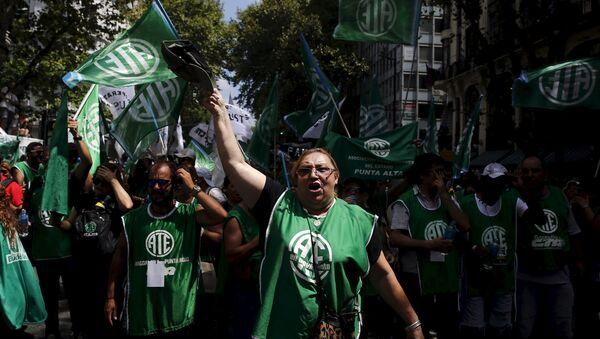 Huelga general en Argentina (archivo) - Sputnik Mundo
