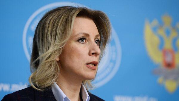 María Zajárova, portavoz de la Cancillería de Rusia - Sputnik Mundo
