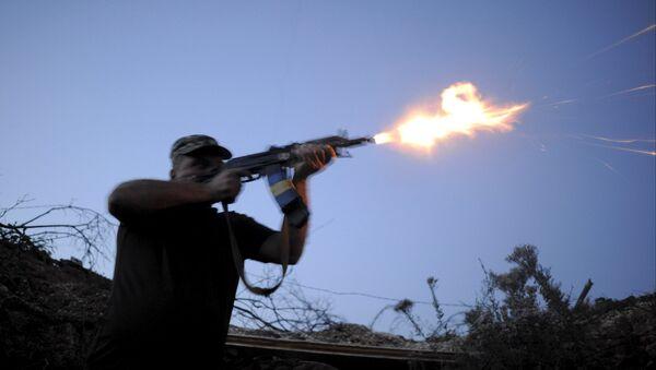Un soldado de las fuerzas armadas de Ucrania en la región de Donetsk - Sputnik Mundo