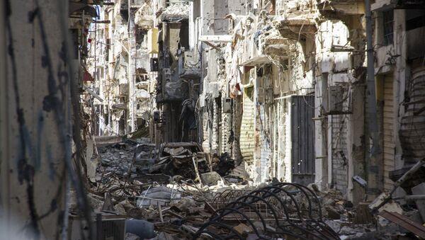 Edificios destruidos en Bengasi, Libia (archivo) - Sputnik Mundo