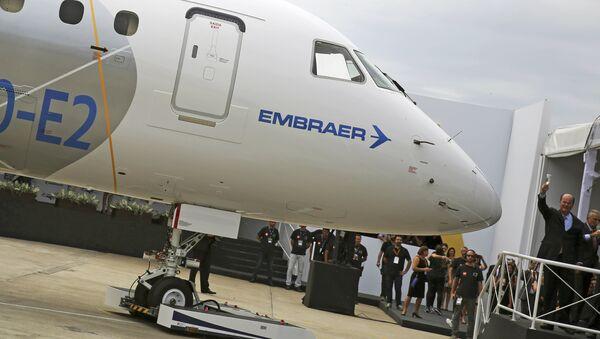 Presentación del modelo de segunda generación Embraer E190-E2 - Sputnik Mundo