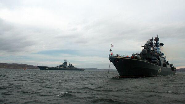 Buques de la Flota del Norte rusa (archivo) - Sputnik Mundo