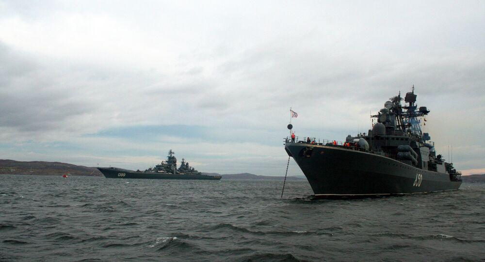 Buques de la Flota del Norte rusa (archivo)