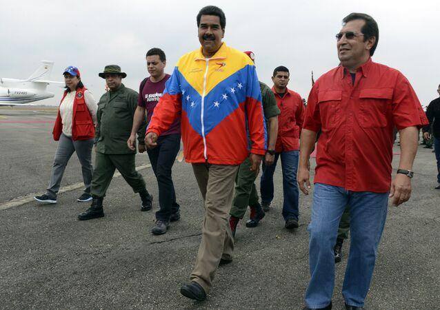 Nicolás Maduro, presidente de Venezuela, y Adán Chávez, Ministro de Cultura de Venezuela