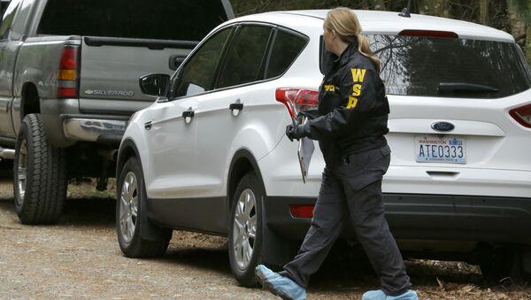 Policía de Washington en el escenario del tiroteo - Sputnik Mundo