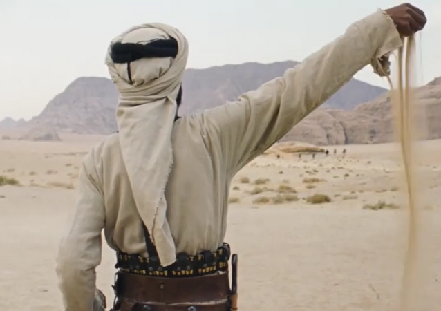 Screenshot del trailer de la película jordana Theeb