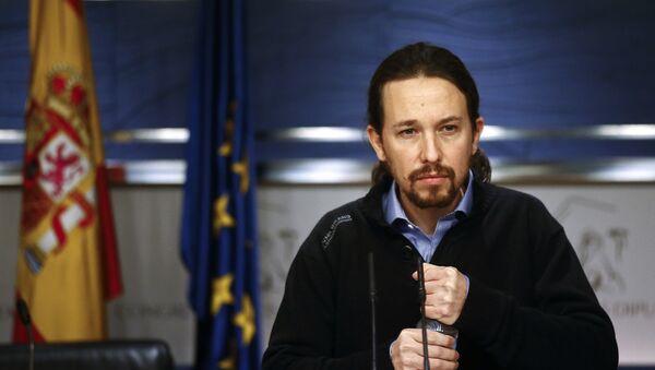 Pablo Iglesias, el líder de Podemos - Sputnik Mundo