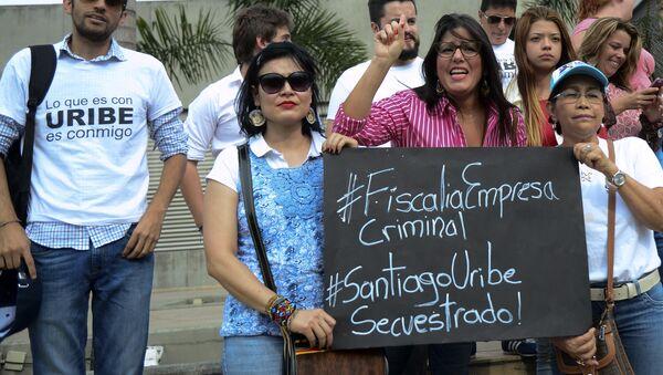 Partidarios de Santiago Uribe - Sputnik Mundo