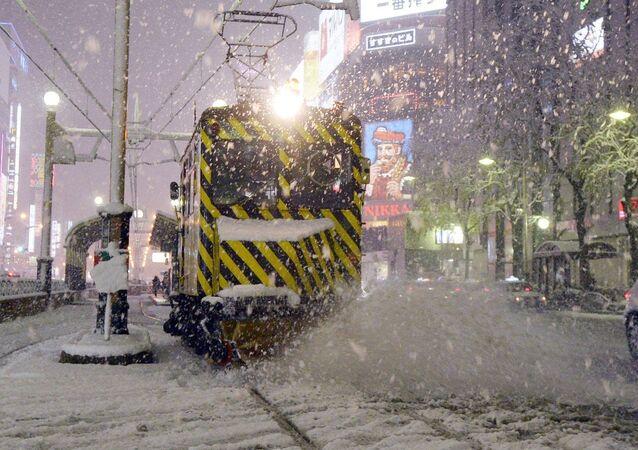 Tormenta de nieve en la isla de Hokkaido (Archivo)