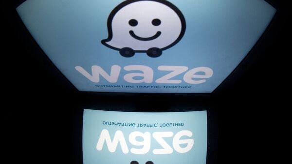 Logo de la aplicación Waze - Sputnik Mundo