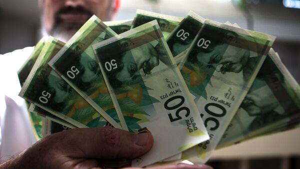Billetes israelíes de 50 shekels - Sputnik Mundo