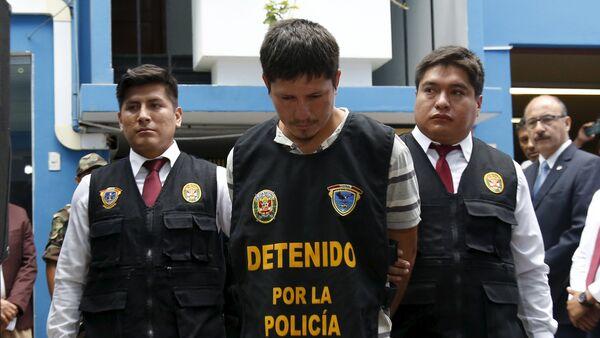 Detención de un sospechoso de tráfico de drogas en Perú - Sputnik Mundo
