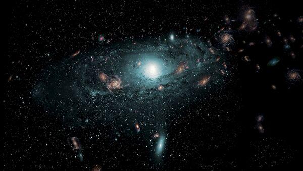 Una impresión artística de las galaxias en el espacio - Sputnik Mundo