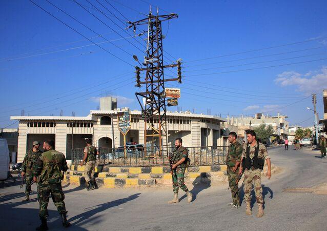 Una aldea liberada por el Ejército sirio en la provincia de Hama (archivo)