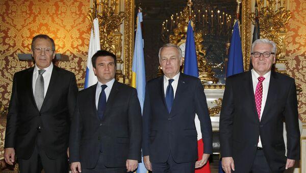 La reunión de jefes de Exteriores del 'cuarteto de Normandía' - Sputnik Mundo