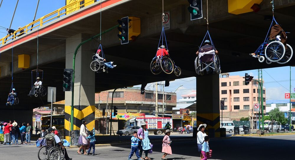 Protesta de descapacitados, Bolivia