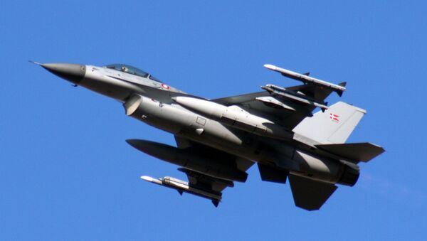F-16 de la Fuerza Aérea de Dinamarca - Sputnik Mundo