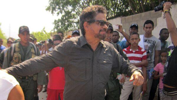 Iván Márquez, uno de los líderes de las FARC, durante la reunión en La Guajira, 18 de febrero de 2016 - Sputnik Mundo