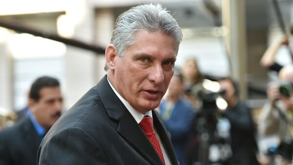 Miguel Díaz-Canel, presidente de Cuba (archivo) - Sputnik Mundo