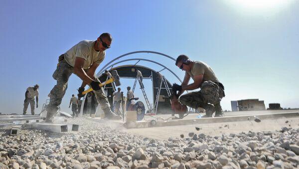 Obras en la base aérea de Diyarbakir en el marco de la operación de EEUU en Siria y Irak - Sputnik Mundo
