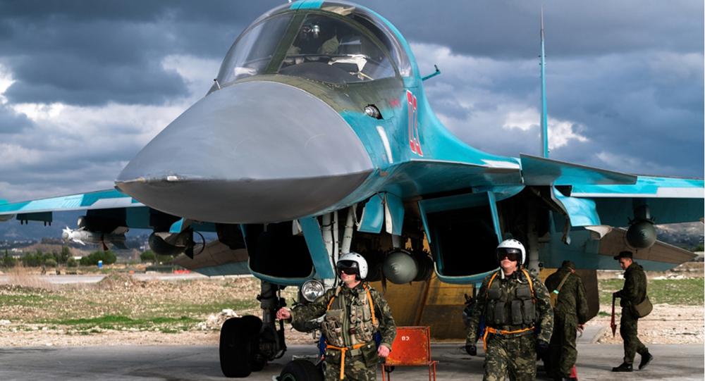 Pilotos rusos en la base aérea de Hmeymim en Siria (archivo)