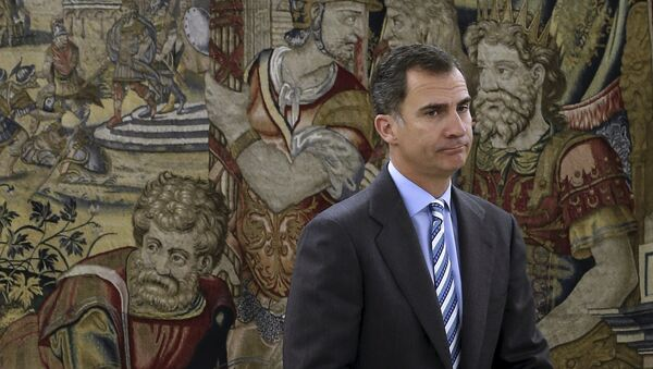 Spanish King Felipe waits for the start of a meeting at Zarzuela palace in Madrid, Spain, January 29, 2016. - Sputnik Mundo