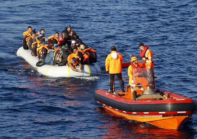 Refugiados en el mar de Egeo (archivo)