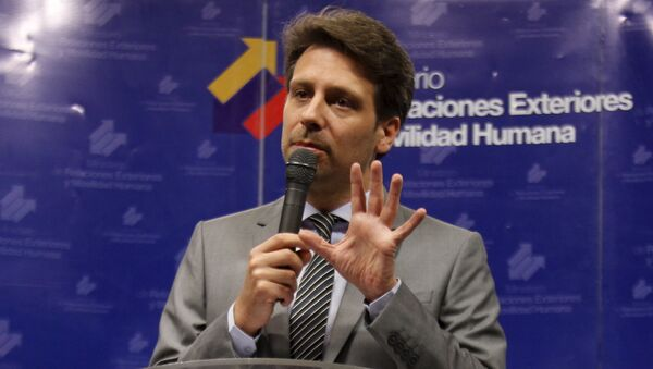 Guillaume Long, canciller de Ecuador - Sputnik Mundo
