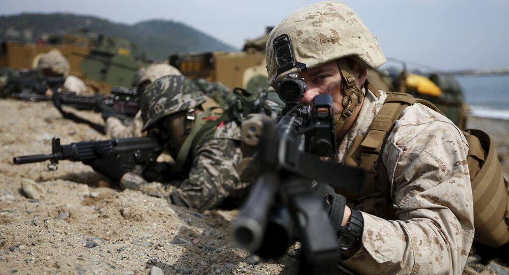 Las maniobras conjuntas de EEUU y Corea del Sur, el 7 de marzo de 2016