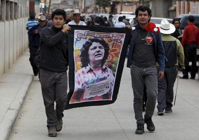 Funeral de la activista hondureña Berta Cáceres (archivo)