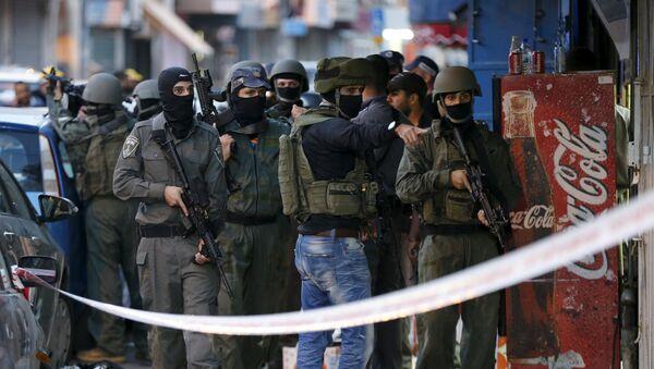 Lugar del tiroteo en Jerusalén - Sputnik Mundo