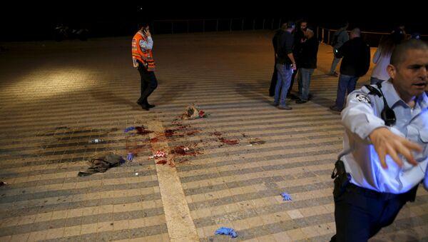 Lugar de atentado en Tel Aviv - Sputnik Mundo