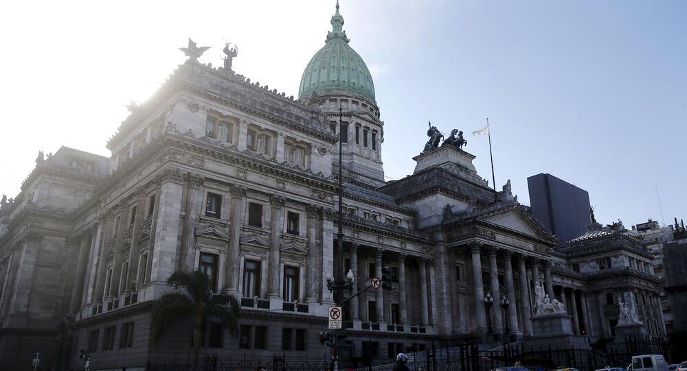 El Congreso de la Nación Argentina en Buenos Aires