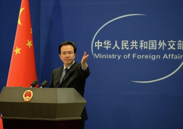 Hong Lei, el portavoz de la Cancillería de China