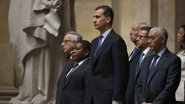 Rey Felipe VI en la la ceremonia de inauguración de Marcelo Rebelo, nuevo presidente de Portugal - Sputnik Mundo