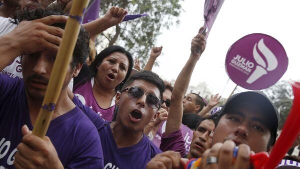 Partidarios de Julio Guzmán, el candidato eliminado a la presidencia de Perú - Sputnik Mundo