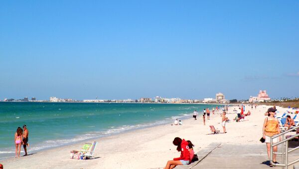 Una playa en México - Sputnik Mundo
