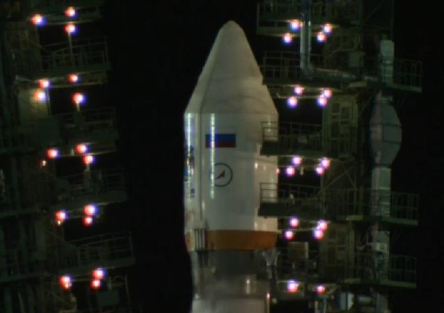 Cohete portador Soyuz 2.1b con un satélite del sistema de navegación Glonass en el cosmódromo Plesetsk (archivo)