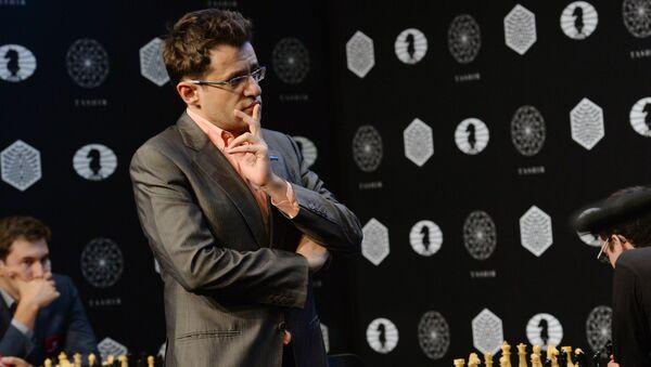 El gran maestro Levón Aronián en un torneo de candidatos de cara al Campeonato Mundial de Ajedrez - Sputnik Mundo