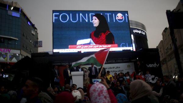 Hanan al Hrub, profesora palestina, ganadora del Premio Profesor Global - Sputnik Mundo