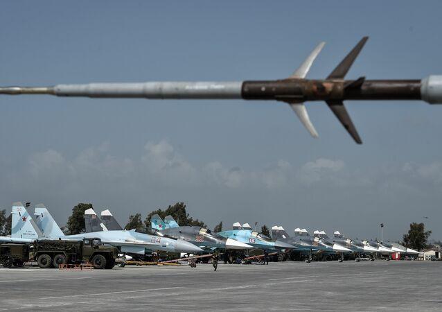 La base rusa de Hmeymim en Siria