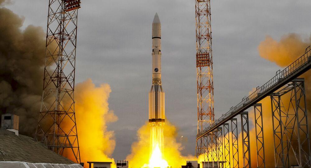 El cohete portador Protón-M (archvio)