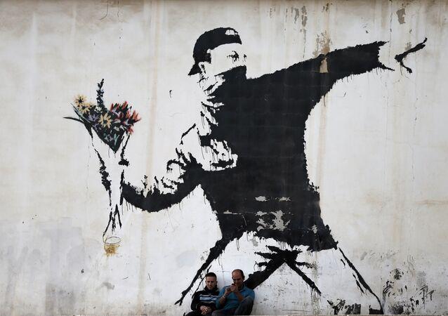 Un grafiti de Banksy