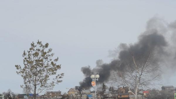 Incendio en almacén de fuegos artificiales en Ufá - Sputnik Mundo