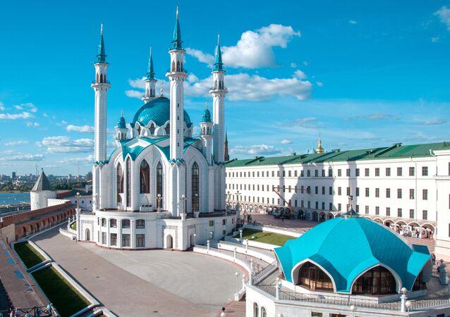 La mezquita Kol Sharif en Kazán, capital de Tartaristán