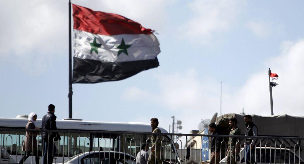 Bandera de Siria en Damasco (archivo)